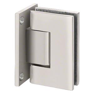 U.S. Horizon Mfg., Inc. HGTWFPBN Designer Series Shower Door Wall Mount Hinge With Full Back Plate Satin-Nickel