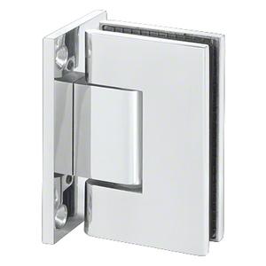 U.S. Horizon Mfg., Inc. HGTWFPC Designer Series Shower Door Wall Mount Hinge With Full Back Plate Polished Chrome