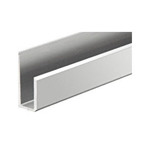 CRL KN111961 Brushed Brite Clear Anodized Lower J-Molding - 12' Long