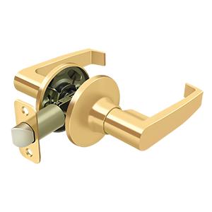 Deltana 6433-003 Linstead Home Series Indoor Door Leverset Passage Lifetime Polished Brass