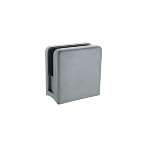 """Satin Chrome Z-Series Large Square Clamp for 3/8"""" Glass"""