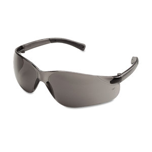 MCR Safety CRWBK112 BearKat Safety Glasses, Wraparound, Gray Lens