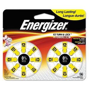 EVEREADY BATTERY EVEAZ10DP16 Hearing Aid Battery, Zero Mercury Coin Cell, 10, 1.4V