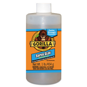 GORILLA GLUE GOR78007 Instant Bond Superglue, 1 lb Bottle, Clear