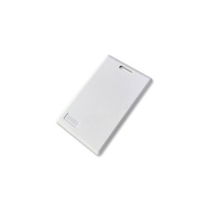 AWID CS-AWID-0-0 Clam Shell Card, Credit Card Size with Beveled Edges, Molded Slot in Portrait Orientation, Off White Color