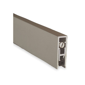 """36"""" Surface Mounted Automatic Door Bottom with EPDM Clear Aluminum Finish"""