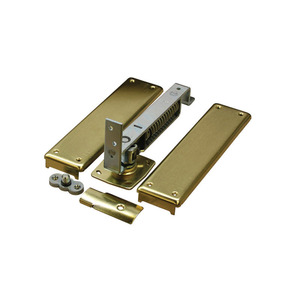 Bommer 7821-619 Medium Duty Horizontal Double Acting Spring Pivot with Floor Plate Satin Nickel Finish