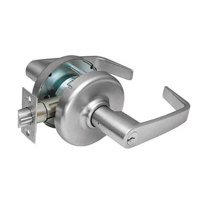 Corbin Russwin CL3351 NZD 626 Zinc Newport Lever and D Rose Single Cylinder Entry Grade 1 Extra Heavy Duty Cylindrical Lever Lock L4 Keyway Satin Chrome Finish