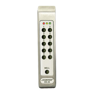 Assa Abloy Electronic Security Hardware - Securitron DK-26PSS Digital Keypad Pad Narrow Stile Satin Stainless Steel Finish