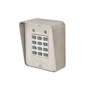 Locknetics DKP-165-S Digital Keypad; Surface Mount with Case; Up to 480 Users with Timed Anti-Pass Back Satin Stainless Steel Finish