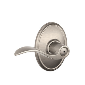 Schlage Residential F40 ACC 619 WKF F40 Accent Privacy Lever Lock with Wakefield Trim