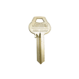 Corbin Russwin L4-6PIN-12 6 Pin Do Not Duplicate Key Blank with L4 Keyway, Nickel Plated