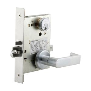 Schlage Commercial L9080P 06A 626 Storeroom Mortise Lock C Keyway with 06 Lever and A Rose Satin Chrome Finish