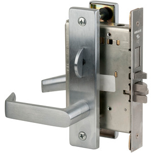 Schlage Commercial L9453P 06L 626 Entry / Office with Deadbolt Mortise Lock C Keyway with 06 Lever and L Escutcheon Satin Chrome Finish