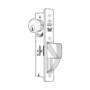 "Adams Rite MS1850SN-450-335 ANSI Size MS Deadlock Flat Faceplate 1-1/2"" Hook Bolt Black Anodized Finish"