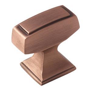 "1-1/4"" (32 mm) Mulholland T-Knob Brushed Copper Finish"