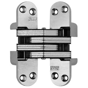 SOSS 218US26D 218 INV HNG 4-5/8IN US26D 1EA 218 SER 4-5/8IN INVIS HINGE 1-3/4 INCH MIN DOOR THICKNESS 1 EACH SATIN CHROME
