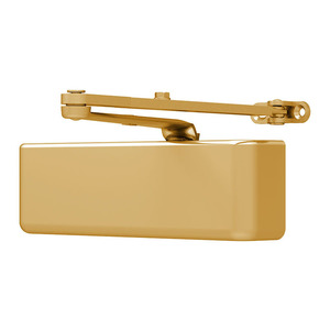 LCN 4040XP-REG BRASS Door Closer Satin Brass Painted
