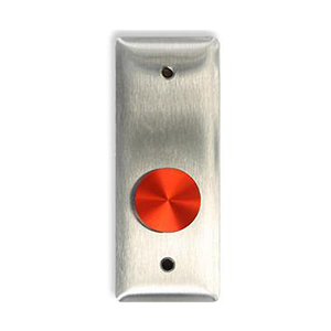 MS Sedco 614-NSS 614 Series Extreme Duty Door Activation Switch, 1 In. Diameter Red Piezo Button Switch, 1-11/16 In. by 4-1/2 In. Stainless Steel Face Plate, Includes WHEELCHAIR and PUSH TO OPEN Self-Sticking MYLAR Decals