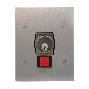 Camden CI-1KFS Industrial Door and Gate Control, Interior Use, Flush Mount Key Switch, with Heavy Duty Stop Button, NEMA 1 and 2