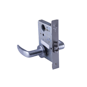 Schlage Commercial L9080L 07A 626 Storeroom Mortise Lock Less Cylinder with 07 Lever and A Rose Satin Chrome Finish