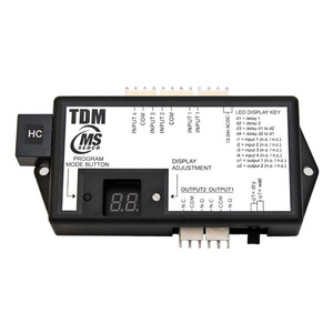 MS Sedco TDM-HC Time Delay Module, Provides up to 4 Inputs, Can be Converted to Sequential Relay Outputs, Each Output Adjustable 0-99 Seconds, High Current