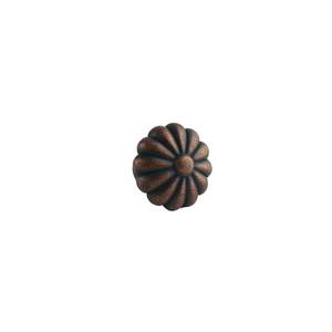 Ultra Hardware 41809 1-1/4 Inches Diameter Designer's Edge Round Floral Cabinet Knob Antique Copper