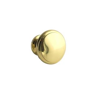 Ultra Hardware 41555 1-1/4 Inches Diameter Round Mushroom Cabinet Knob Polished Brass