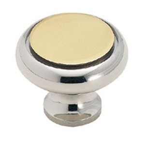 Ultra Hardware 41418 1-7/32 Inches Diameter Dual Toned Cabinet Knob Polished Chrome