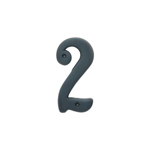 Better Home Products 482ORB 4 Inches Height Solid Brass House Number Number 2 Oil Rubbed Bronze