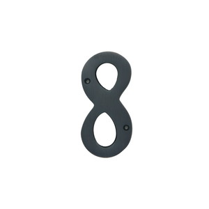 Better Home Products 488ORB 4 Inches Height Solid Brass House Number Number 8 Oil Rubbed Bronze