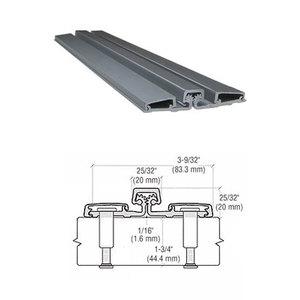 "International Door Closers 317FSC-83 Aluminum Geared Continuous Hinge Full Surface 83"" Clear Anodized Aluminum"