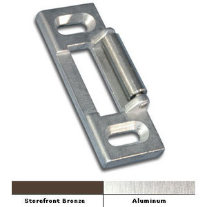 International Door Closers ST-6312-AL Surface Roller Strike For International Rim Panic Hardware Aluminum