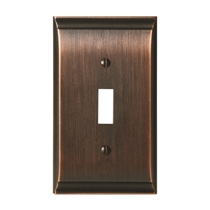 "Amerock BP36500ORB 4-9/10"" x 2-9/10"" Candler Single Toggle Wall Plate Oil Rubbed Bronze Finish"