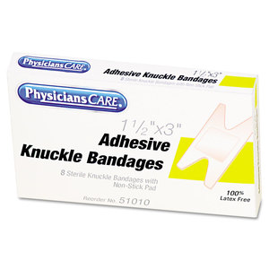 Acme United Corporation FAO1009 First Aid Fabric Knuckle Bandages, 8/Box