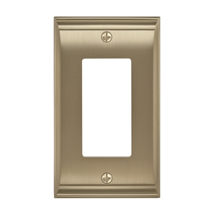"4-9/10"" x 2-9/10"" Candler Single Rocker Wall Plate Golden Champagne Finish"
