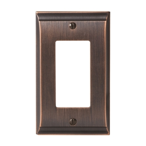 "Amerock BP36504ORB 4-9/10"" x 2-9/10"" Candler Single Rocker Wall Plate Oil Rubbed Bronze Finish"