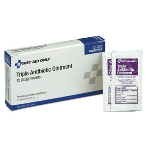 Acme United Corporation FAO12001 First Aid Kit Refill Triple Antibiotic Ointment, 12/Box