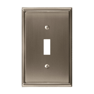 Amerock BP36514G10 Mulholland Single Toggle Wall Plate Satin Nickel Finish