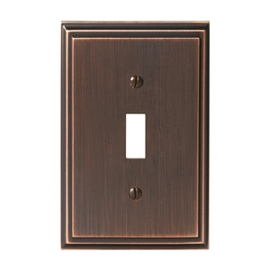 Amerock BP36514ORB Mulholland Single Toggle Wall Plate Oil Rubbed Bronze Finish