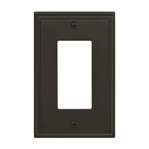"Amerock BP36518BBR 8-3/10"" x 6-3/10"" Mulholland Single Rocker Wall Plate Black Bronze Finish"