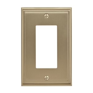 "Amerock BP36518BBZ 8-3/10"" x 6-3/10"" Mulholland Single Rocker Wall Plate Golden Champagne Finish"