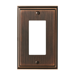 Amerock BP36518ORB Mulholland Single Rocker Switch Wall Plate Oil Rubbed Bronze Finish