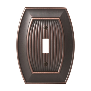 "Amerock BP36528ORB 11-3/5"" x 6-3/10"" Allison Single Toggle Wall Plate Oil Rubbed Bronze Finish"