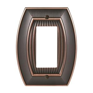 """8-3/10"""" x 6-3/10"""" Allison Single Rocker Wall Plate Oil Rubbed Bronze Finish"""