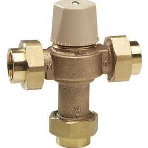 Chicago Faucets 122-ABNF ECAST THERMOSTATIC MIXING VALVE WITH CHECK VALVES AND FILTER SCREENS TO PROTECT AGAINST SCAULDING