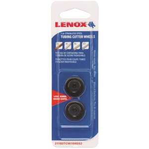 Lenox 21193TCW158SS2 STAINLESS STEEL TUBING CUTTER REPLACEMENT WHEEL Black Pack of 2