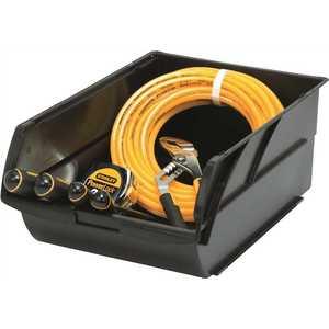 Stanley 056500L Number-5 10 in. Stackable Storage Bin, Black Yellow