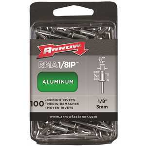 Arrow Fasteners RMA1/8IP s 1/8 in. Aluminum Rivets (100-Pack)