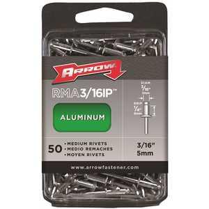 Arrow Fasteners RMA3/16IP s 3/16 in. Medium Aluminum Rivets (50-Pack)